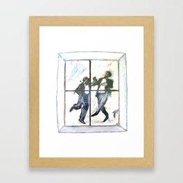 Dancing Men Framed Art Print