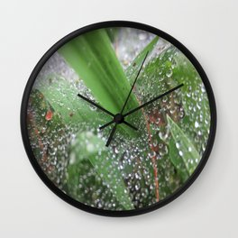 Wet Grass Wall Clock