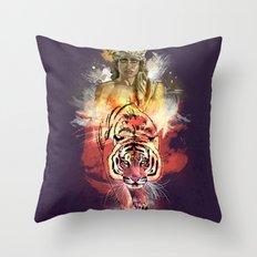 Inner Beast  Throw Pillow