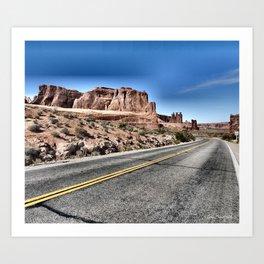 On the road again, Utah. Art Print