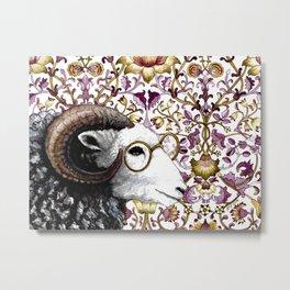Spectacular Sheep Original Watercolor Metal Print