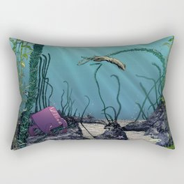 Pink cube travel #1 Findings under the sea Rectangular Pillow