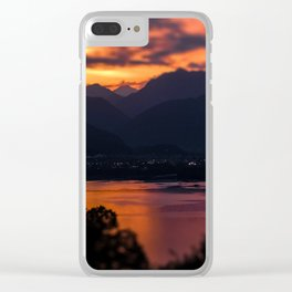 Locarno and Ascona at sunset Clear iPhone Case