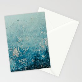 Old weathered blue wall Stationery Cards