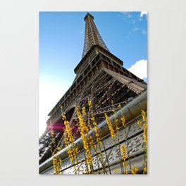 Paris : Spring Tower Canvas Print