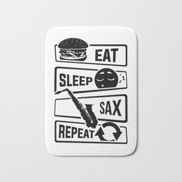 Eat Sleep Sax Repeat - Saxophone Music Instrument Bath Mat
