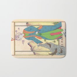 Tarot Card-The Pope-The Hierophant-Le Pape Bath Mat