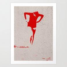 Woman Emerging (j) Art Print