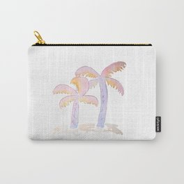 Pastel Palm Trees Carry-All Pouch