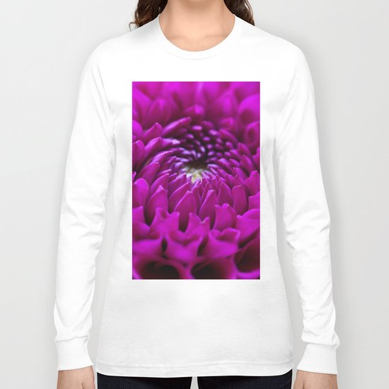 Pink Dahlia #1 #art #society6 Long Sleeve T-shirt
