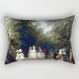 Thomas Gainsborough The Mall in St. James's Park Rectangular Pillow