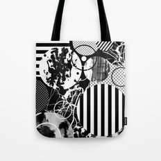 Black And White Choas - Mutli Patterned Multi Textured Abstract Tote Bag