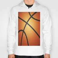 basketball Hoodies featuring Basketball by Debra Ulrich