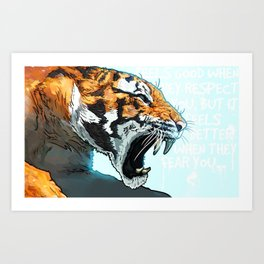 Le Chat Terrible Art Print