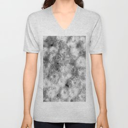 The Flower Pattern (Black and White) Unisex V-Neck
