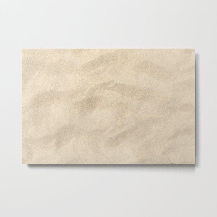Light Brown Sand texture Metal Print