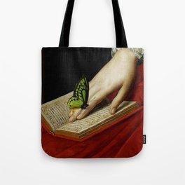 Gentle Reader Cropped Art Tote Bag