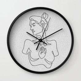 Beating Heart (white) Wall Clock