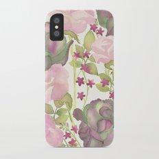 Autumn Bouquet - Kale & Rose iPhone X Slim Case