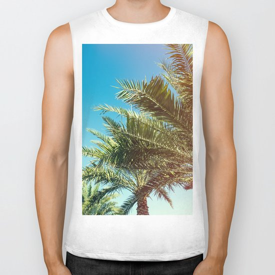 Vintage Palm tree vibes Biker Tank