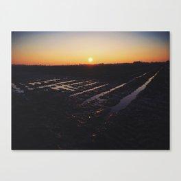 Sunset, Wayside, Mississippi Canvas Print