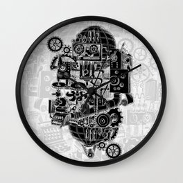 Hungry Gears (negative) Wall Clock