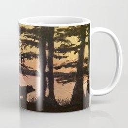 Bear and Cypress Sunset Coffee Mug
