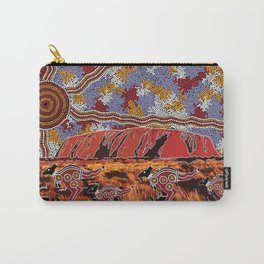 Uluru (Ayers Rock) Authentic Aboriginal Art Carry-All Pouch