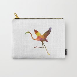 Flamingo 02 in watercolor Carry-All Pouch