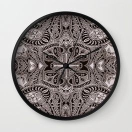 paisley dagger Wall Clock
