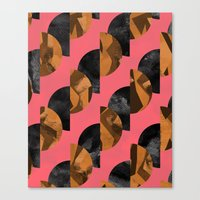 black and gold Canvas Prints featuring gold,black by Georgiana Paraschiv