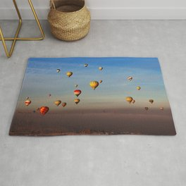 Fairytale dreams of hot air balloons Rug
