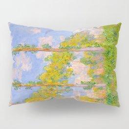 Claude Monet Impressionist Landscape Oil Painting Poplars in the Sun Pillow Sham