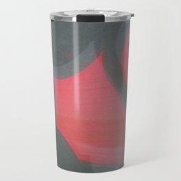 TRANSITORY RED LIGHT SHADOW ABSTRACT Travel Mug