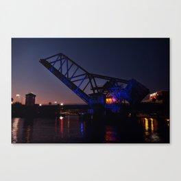 Bridge in Blue Canvas Print