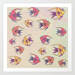 Angel Fish Art Print