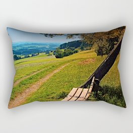 The bench and the summer Rectangular Pillow