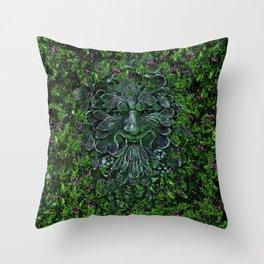 THE GREEN MAN Throw Pillow