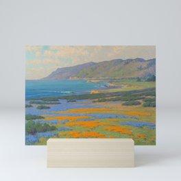 Spring Morning, Poppy and Lupine Flowers, California Coast by John Marshall Gamble Mini Art Print