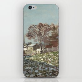 Snow at Argenteuil iPhone Skin