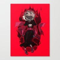 homestuck Canvas Prints featuring Grimdark Rose by Pris