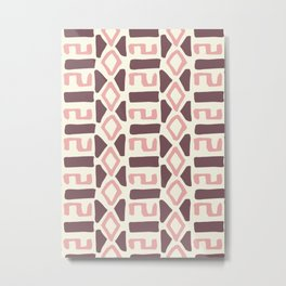 Pink Fall Tribal #society6 #tribal Metal Print