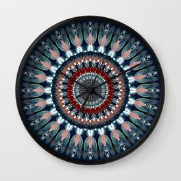 Festive Winter Night Mandala Wall Clock