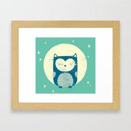 The Moon Owl Framed Art Print
