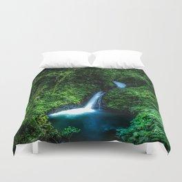 Jungle Waterfall Duvet Cover