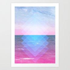 Sea Diamonds Art Print