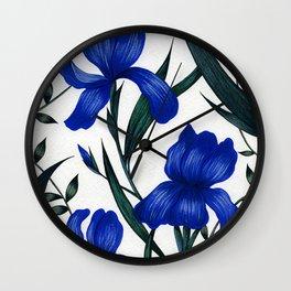 Blue Iris Wall Clock