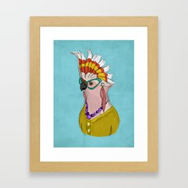 Sophisticated Bird Print Framed Art Print