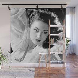Ava Gardner, Hollywood Starlet black and white photograph / black and white photography Wall Mural