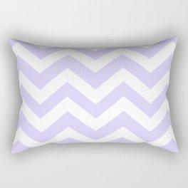 Pale lavender - grey color - Zigzag Chevron Pattern Rectangular Pillow